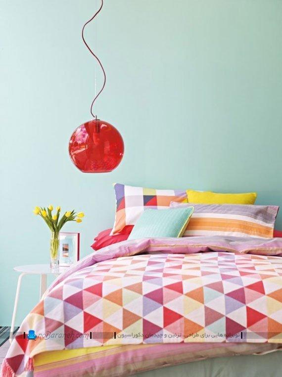 اتاق خواب با ترکیب رنگی زیبا / عکس