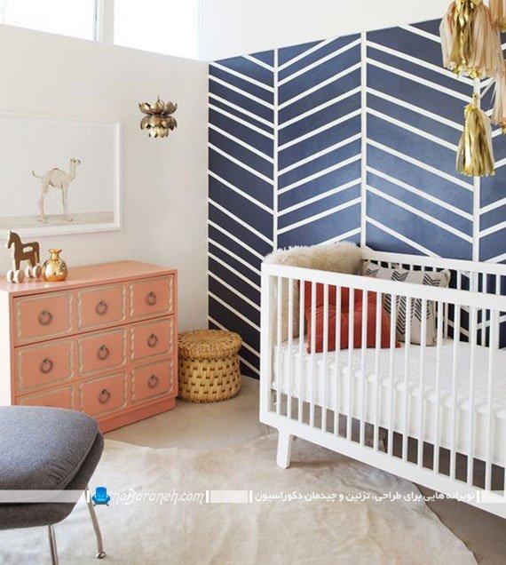 تزیین اتاق خواب نوزاد با اشکال هندسی
