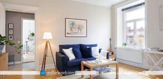 دیزاین داخلی با مبلمان و تزیینات ساده و ارزان