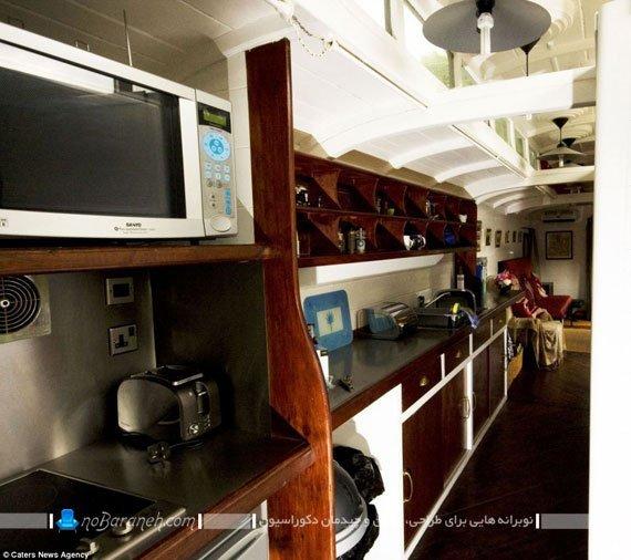 هتل و اقامتگاه در کابین قطار قدیمی / عکس