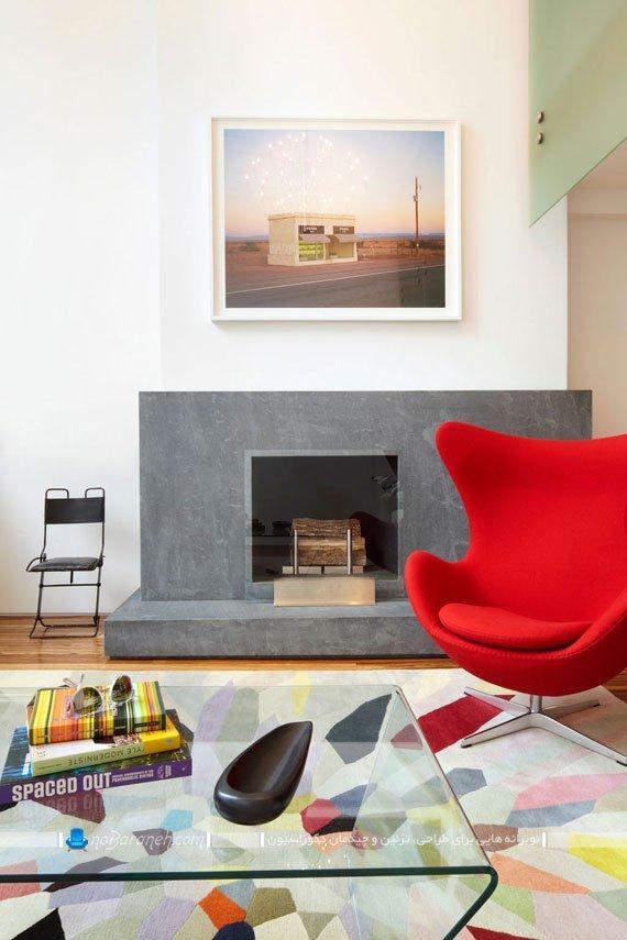 دیزاین شیک خانه دوبلکس یک خوابه