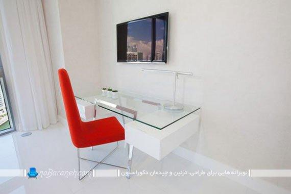 میز تحریر شیشه ای / عکس