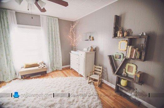 دیزاین اتاق نوزاد دختر با وسایل ساده