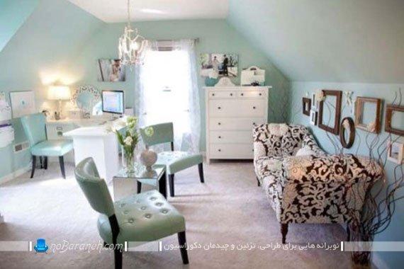 طراحی اتاق کار اداری در بخشی از خانه / عکس