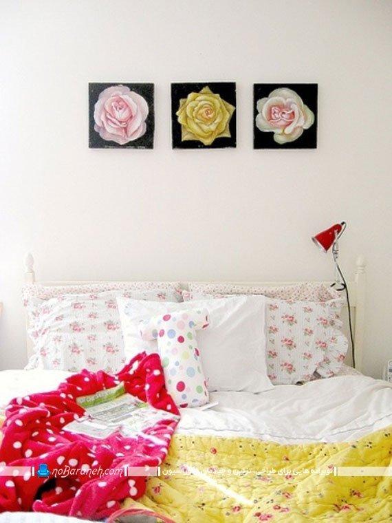 تزیین فضای اتاق خواب با رنگ های متنوع / عکس