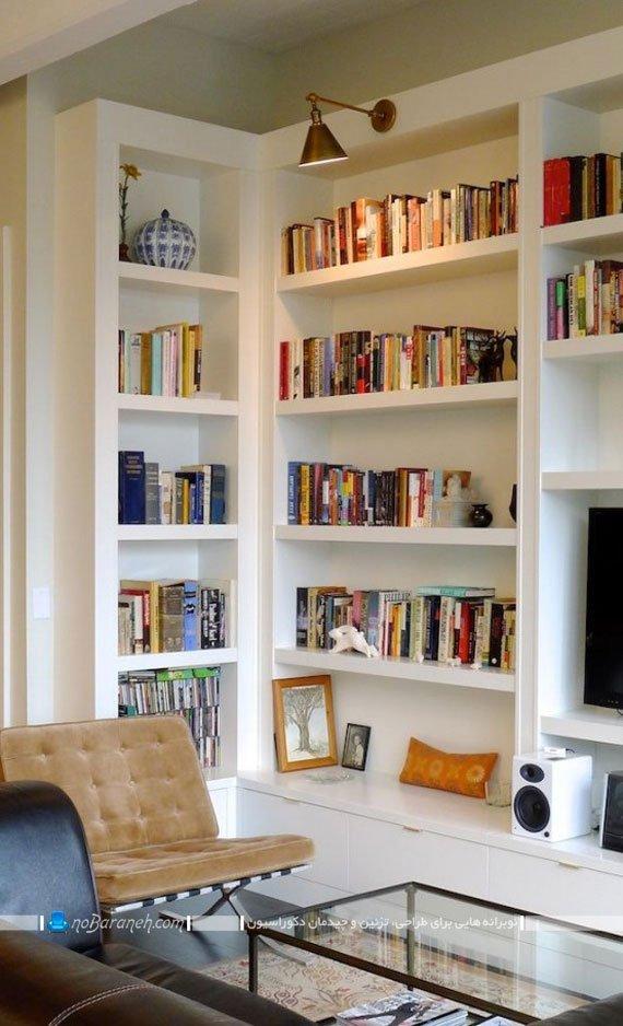 مدل کتابخانه خانگی چوبی و جادار