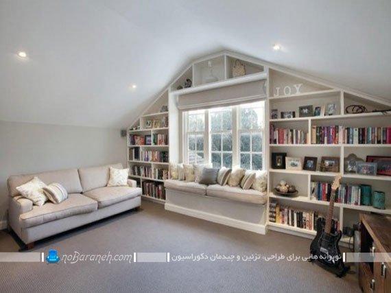 کتابخانه چوبی کمجا / عکس