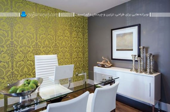 میز مدیریت شیشه ای با طراحی مدرن