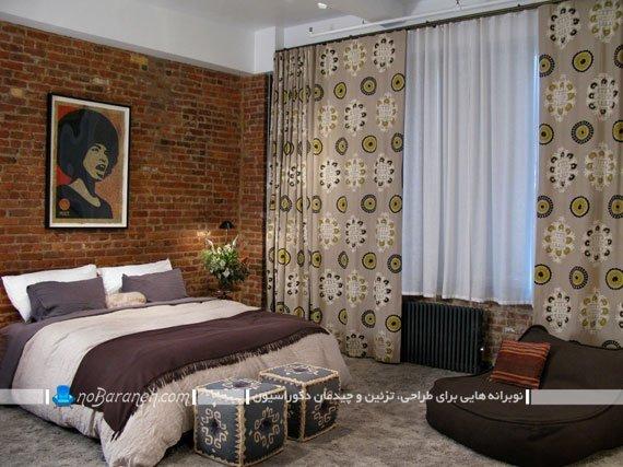 دیوارپوش آجری در دکوراسیون داخلی اتاق خواب