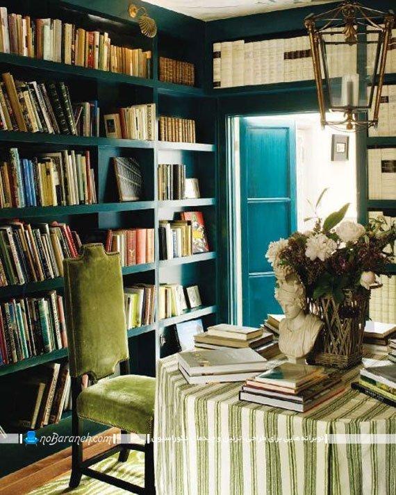 کتابخانه خانگی ساده / عکس