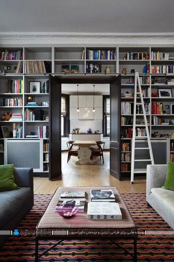 قفسه و کتابخانه چوبی خانگی / عکس
