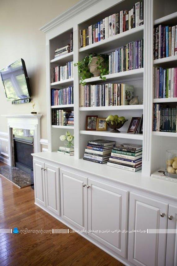 کتابخانه چوبی کلاسیک / عکس