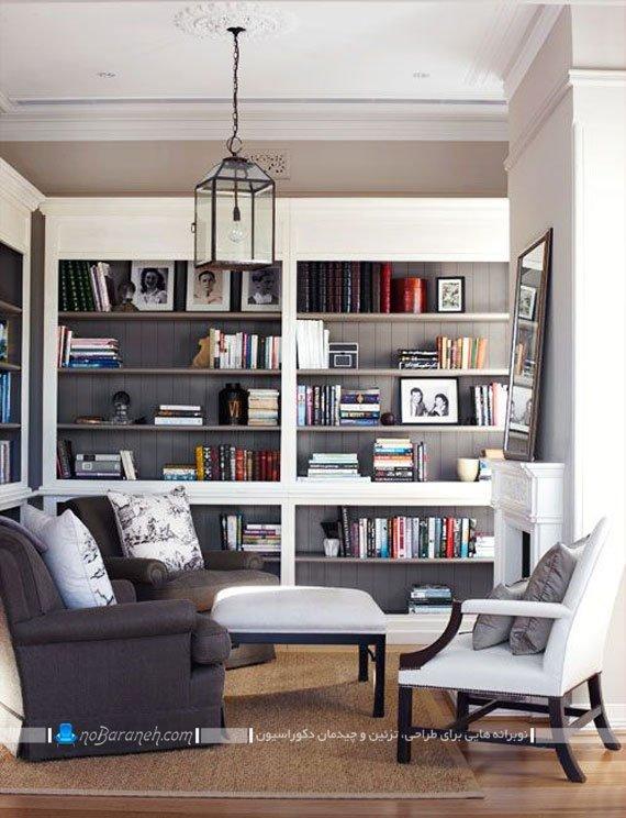 کتابخانه چوبی خانگی / عکس