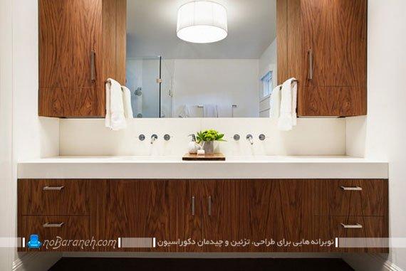 آینه باکس پی وی سی دستشویی / عکس