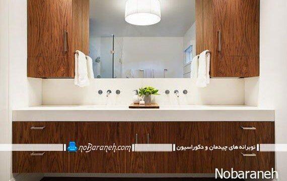 کابینت بزرگ دستشویی و حمام با جنس pvc