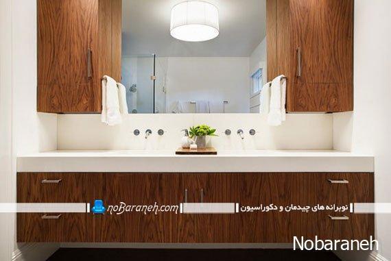 کمد و کابینت های مدرن و چوبی دکوراسیون داخلی حمام