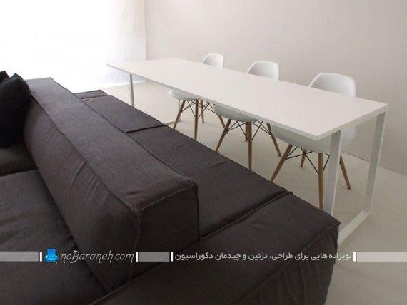 مبلمان و میز ناهارخوری کوچک و جادار / عکس