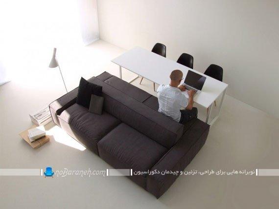 کاناپه مدرن با نشیمن دو طرفه / عکس