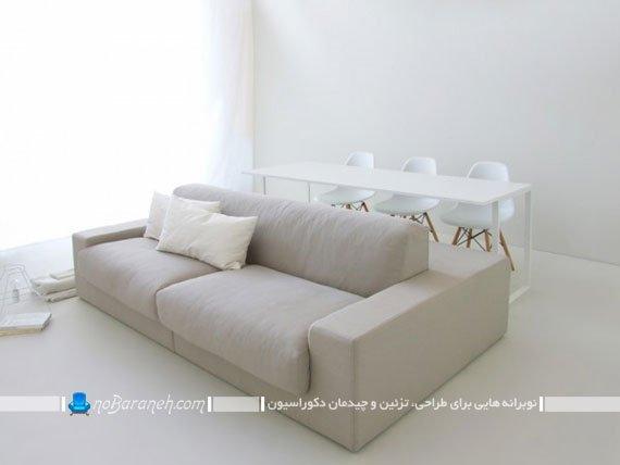 مبلمان سفید رنگ برای خانه های کوچک / عکس
