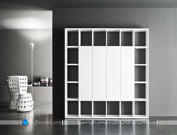 باکس و قفسه چوبی برزگ و ساده / عکس