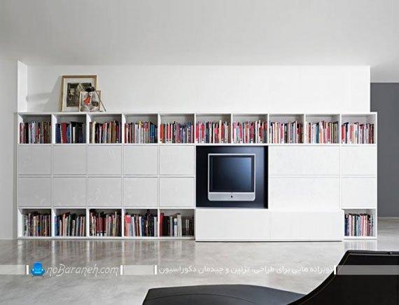 بوفه و کتابخانه بزرگ و جادار / عکس