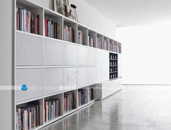 کتابخانه و میز تلویزیون شیک و مدرن / عکس