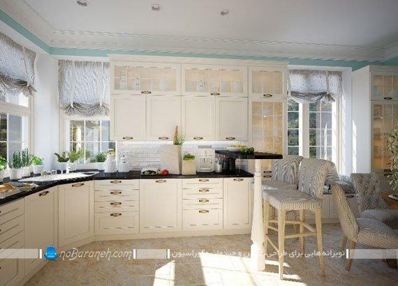 کابینت ممبران آشپزخانه سفید رنگ