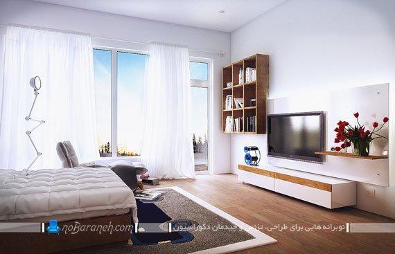 ترکیبی از طراحی دکوراسیون چوبی و رنگ سفید