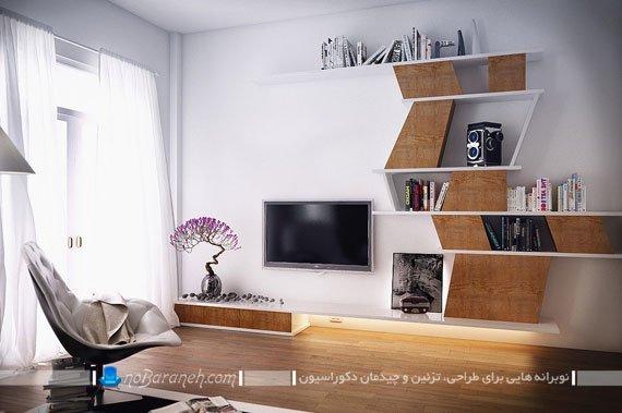 مدل شلف و میز تلویزیون مدرن برای اتاق خواب