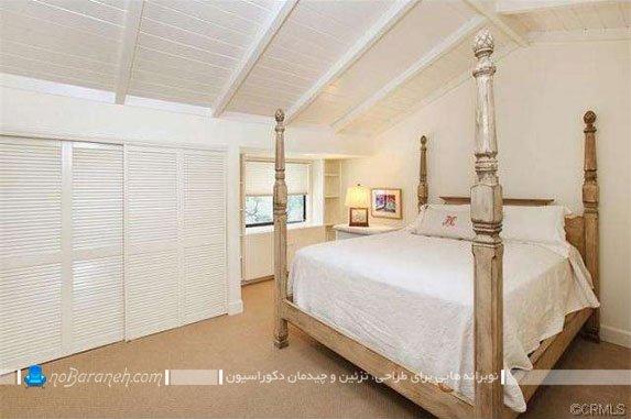 طراحی دکوراسیون وینتج اتاق خواب مستر