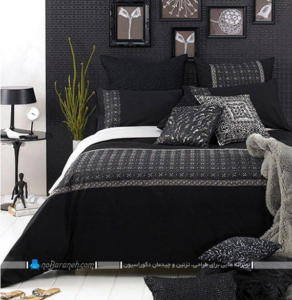دیزاین اتاق خواب با سیاه و سفید / عکس