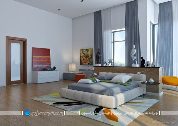 تزیین و دیزاین اتاق خواب با طرح و رنگ های شاد و با طراوت