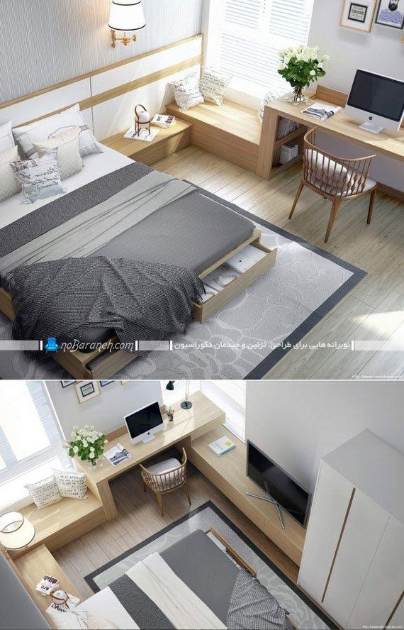 اتاق خواب عروس با طراحی دکوراسیون شیک و مدرن