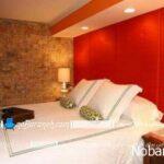 طراحی دکوراسیون اتاق خواب با رنگ قرمز و مشکی یا سفید