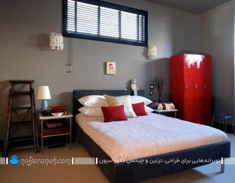 رنگ آمیزی اتاق بزرگسالان با قرمز