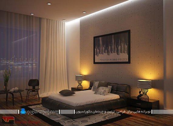 طراحی دکوراسیون مدرن اتاق خواب عروس