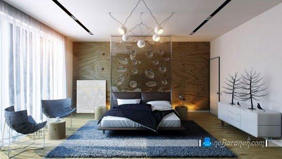 دیوار شیشه ای و تزیینی در اتاق خواب