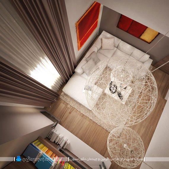 چیدمان ال در اتاق پذیرایی مربع کوچک