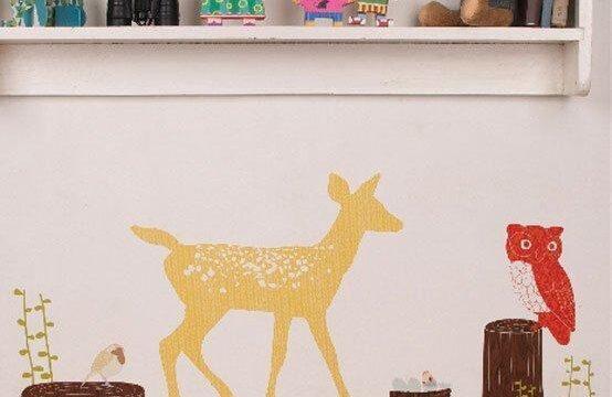 استیکر دیواری اتاق بچه با طرح حیوانات