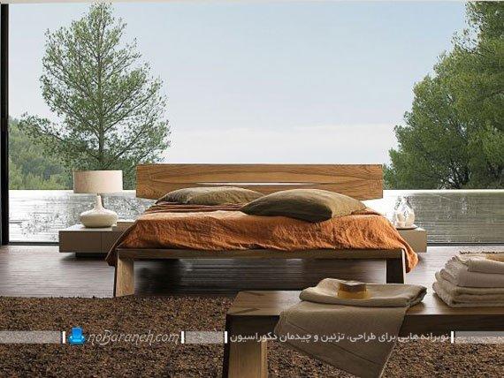 سرویس خواب چوبی ساده