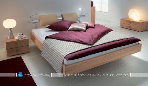 تخت خواب با پابه مخفی