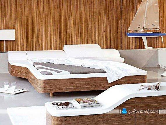تخت خواب چوبی مدرن و دو نفره
