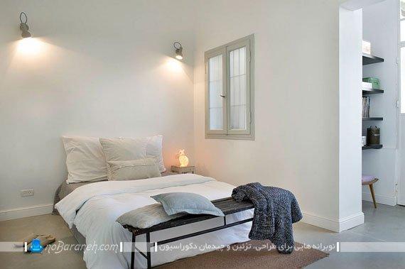 دیزاین ساده و ارزان اتاق خواب دو نفره