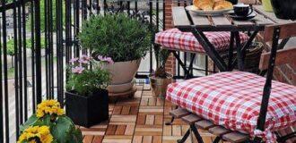 تزیین بالکن و تراس خانه با کفپوش چوبی