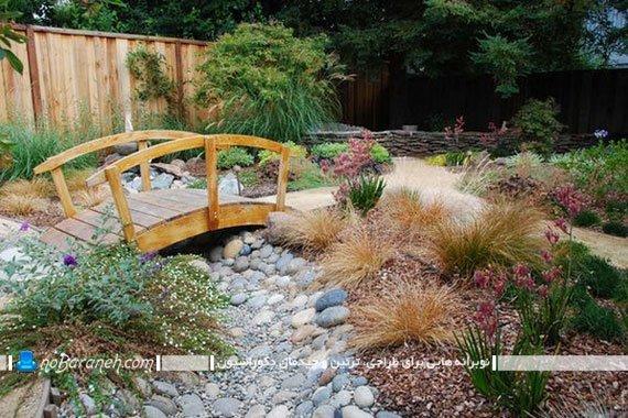 تزیین باغچه با وسایل ساده