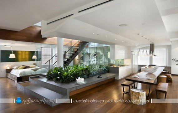 طراحی و اجرای باغچه در داخل خانه
