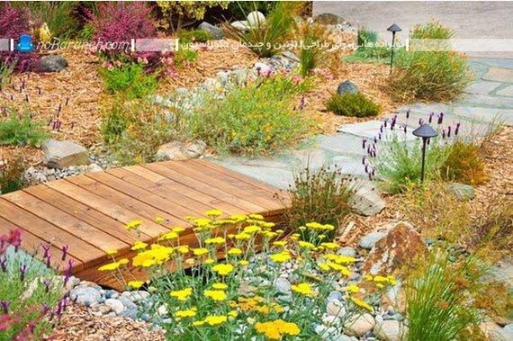 تزیین حیاط و باغچه خانه های ویلایی