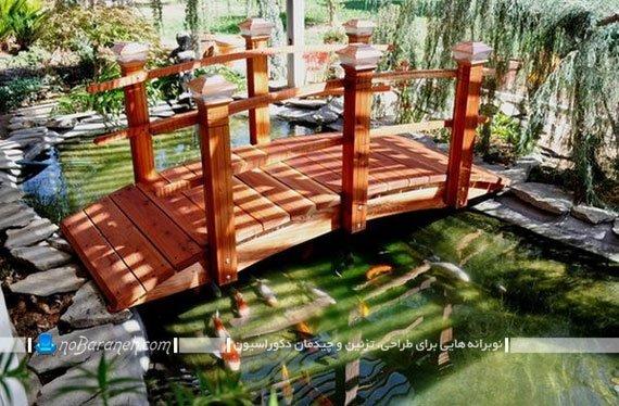 طراحی دریاچه مصنوعی کوچک در حیاط خانه های ویلایی