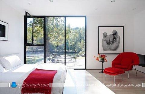 دیزاین اتاق خواب با رنگهای پرهیجان