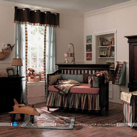 تزیین اتاق کودک دختر با رنگ های تیره / عکس
